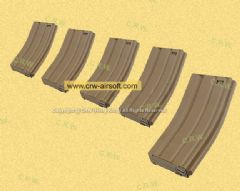 Action 120 rds M16 Magazine Box Set (5pcs/set) - Tan